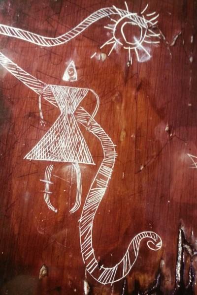 Mi'kmaq Petroglyph Sun Snake Woman