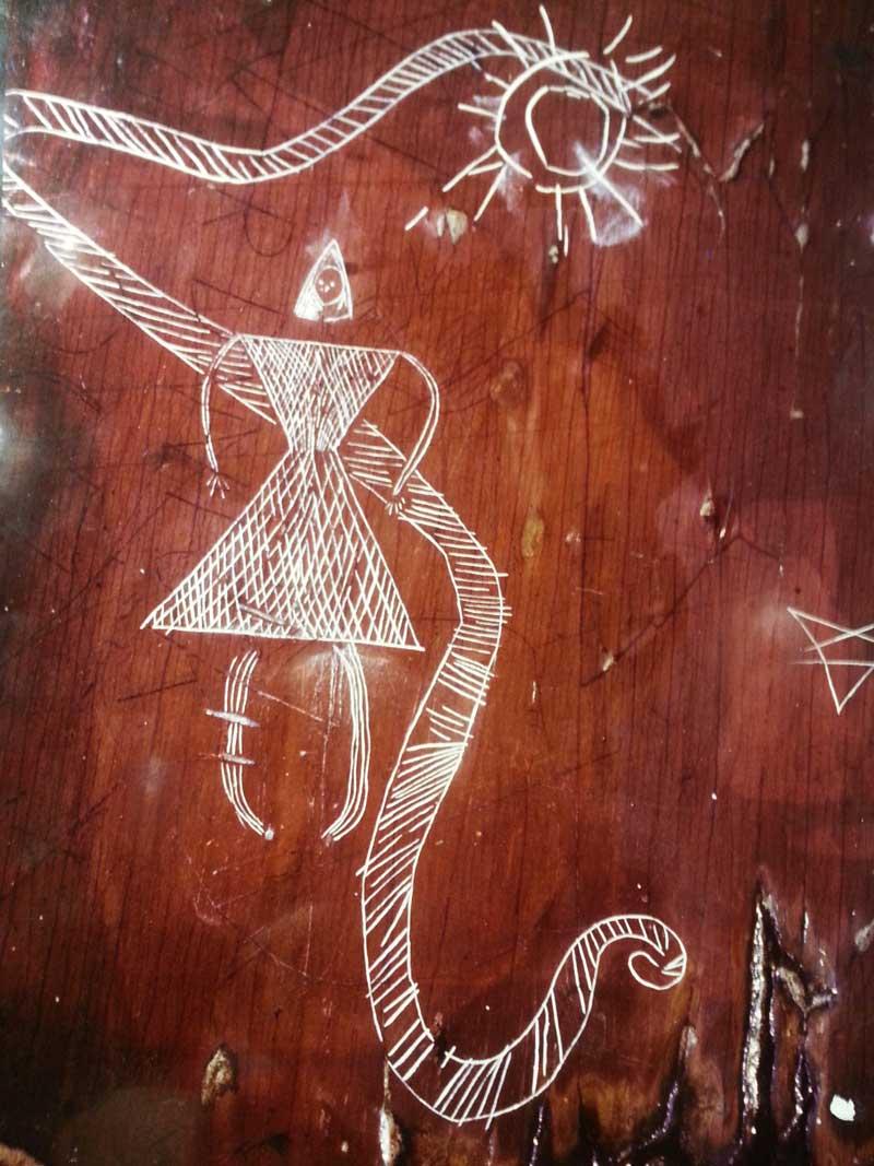 Mikmaq Petroglyph Sun Snake Woman