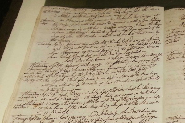 """The diaries of Simeon Perkins describe life from 1766 to the end of 1812. The hand-written diaries are on permanent display in our Museum.   [themify_button link=""""https://www.queenscountymuseum.com/perkins-diary/"""" style=""""medium green flat""""] Simeon Perkins [/themify_button]"""